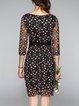 Multicolor Vintage Embroidered Mesh Midi Dress