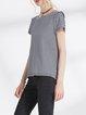 Black-white H-line Shorts Sleeve T-Shirt