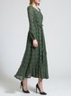 Dark Green Ripped Casual Maxi Dress