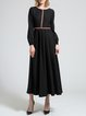 Casual A-line Balloon Sleeve Maxi Dress