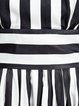 Swing Elegant Stripes Cotton-blend 3/4 Sleeve Maxi Dress