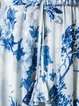 Floral Printed Bell Sleeve Asymmetrical Casual Holiday Dress