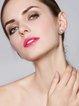 Silver-Color Pearl Flower Earrings