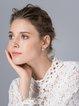 Silver Pearl Crown Earrings