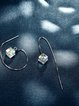Silver Square 925 Sterling Silver Crystal Earrings