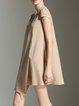 Crew Neck  Asymmetric Short Sleeve Casual Mini Dress