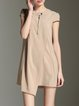 Crew Neck  Asymmetric Shorts Sleeve Casual Mini Dress