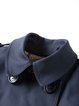 Buttoned Long Sleeve Trench Coat
