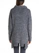 Gray Cutout Shift Long Sleeve Blend Sweater