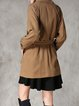 Shift Casual Long Sleeve Buttoned Coat
