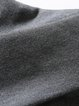Casual Plain Bateau/boat Neck Cotton Long Sleeved Top