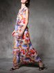 Multicolor Abstract Sleeveless Maxi Dress