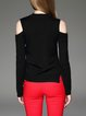 Long Sleeve Plain Knitted Casual Sweater