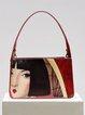 Red Zipper Casual Shoulder Bag