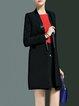 Black Formal A-line Buttoned Blazer