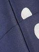 Dark Blue Vintage Printed A-line Midi Dress
