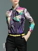 Multicolor Abstract Printed Long Sleeve Blouse