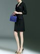 Black Bodycon Formal Lapel Midi Dress