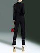 Black Lapel Formal Binding Two Piece Suits And Separate