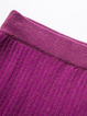 Two Piece Pleated Plain V Neck 3/4 Sleeve Sweater Dress