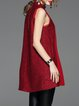 Wine Red Sleeveless Jacquard Mini Dress