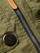 Army Green Embroidered Casual Coat
