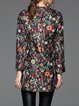 Floral-print Vintage Long Sleeve Coat