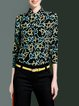 Multicolor Printed Casual Shirt Collar Blouse