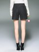 Wool Blend Simple Symmetric Solid Shorts
