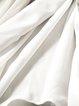 A-line Short Sleeve Simple Slit Rayon Coat