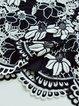 Black-white Bodycon Casual Guipure Midi Skirt