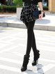 Black Checkered/Plaid Printed Casual Polyester Culottes Pants