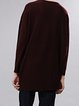 Crimson Long Sleeve Slash Neck Sweater
