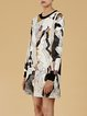 Multicolor Abstract Printed Statement Mini Dress