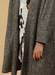 Long Sleeve Wool Blend Simple Knitted Pockets Cardigan