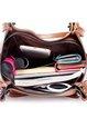 Casual Zipper PU Shoulder Bag