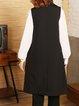 Buttoned Solid Elegant Vests