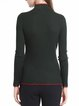 Green Paneled Casual Stand Collar Sweater