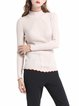 Beige Casual Paneled Sweater