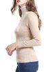 Beige Wool Color-block Casual Sweater
