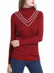 Acrylic Casual Stand Collar Sweater