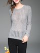 Knitted Pierced Beaded Sweater