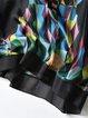 Plus Size Multicolor Printed Half Sleeve Shift Mini Dress