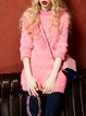 Casual Beaded Long Sleeve Fluffy Sweater