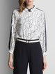 Long Sleeve Abstract Printed Casual Blouse