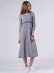 A-line Jersey Long Sleeve Casual Plain Midi Dress