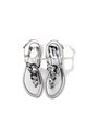 Silver Summer Sequin Dress Flat Heel Sandals