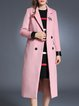 Casual H-line Lapel Long Sleeve Coat with Pockets