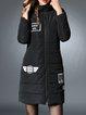 Hoodie Long Sleeve Appliqued Coat