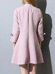 Bow Girly H-line 3/4 Sleeve Coat